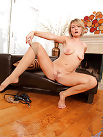 Anilos Holly Bryn strips off her lingerie and shows her tight milf body